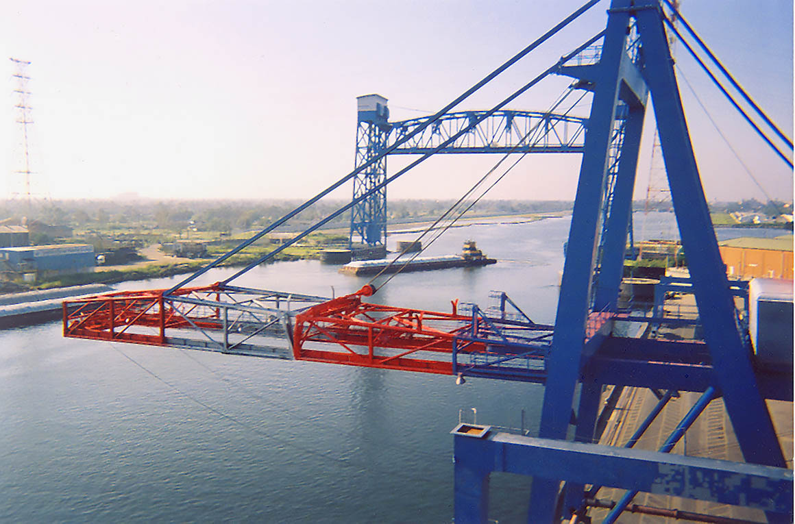 Repainting Container Cranes in New Orleans, LA